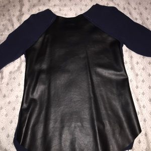 Sparkle & Fade Sweaters - Urban Outfitters Sparkle&Fade Faux Leather Sweater